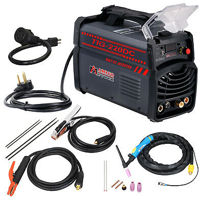 TIG-220DC, 220 Amp TIG-Torch Stick ARC Inverter DC Welder 120/240V Welding New