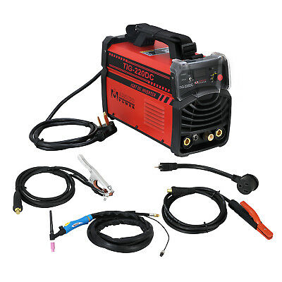 TIG-220DC, 220 Amp TIG-Torch/Stick/ARC DC Welder 110/230V Dual Voltage Welding