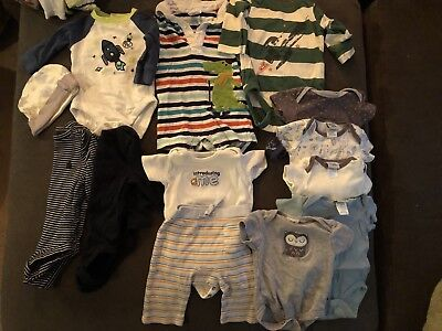 0-3, 3-6 Month Baby Boys Lot Gymboree And Gap 13 pieces clothing