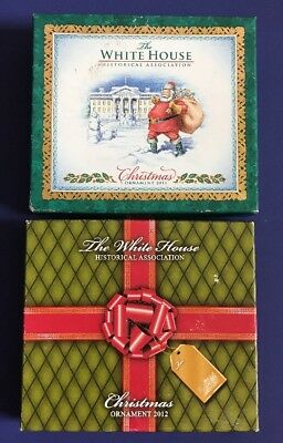 Lot of 2 White House Ornaments - 2011 and 2012