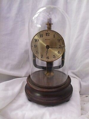Vintage/antique French Bulle 800 Day Electric Clock Under Glass Dome