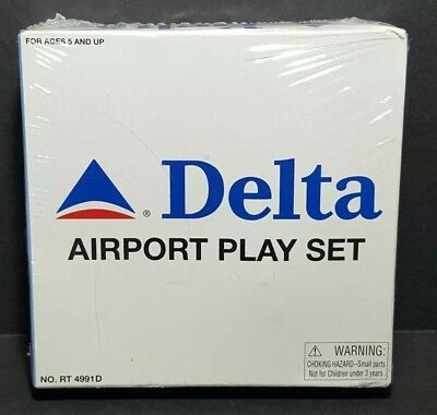 Rare DELTA AIRLINES Airport Play Set Daron Exclusive MYSTERY CONTENTS Sealed Vtg