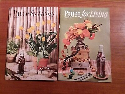 Pause for Living Magazines Coca-Cola Autumn 1956 & Spring 1957