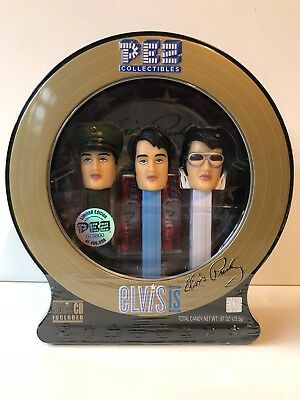 Sealed Elvis Presley Limited Edition PEZ Dispensers with CD 2007