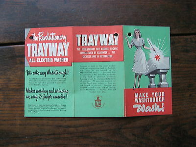 Trayway Washing Machine Pamphlet