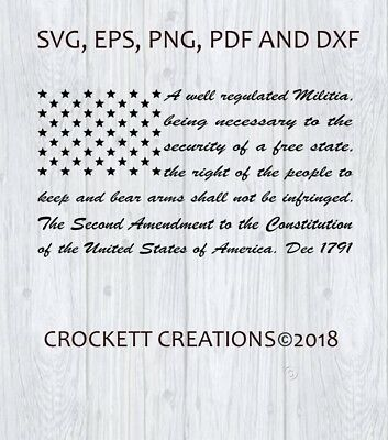 2Nd Amendment Flag, Pdf, Png, Svg, Eps And Dxf Cut Files