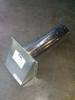 """4"""" Galvanized Wall Vent Hood with Screen"""