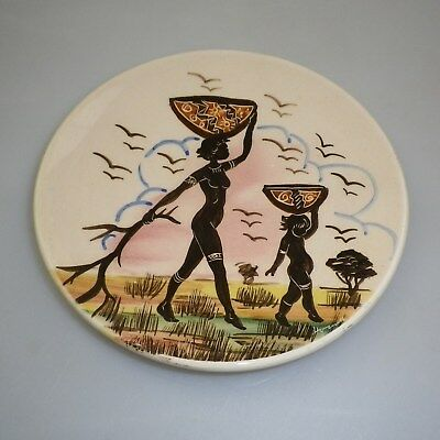 Guy Boyd Handpainted Plate Decorated  With An Aboriginal Women And Child