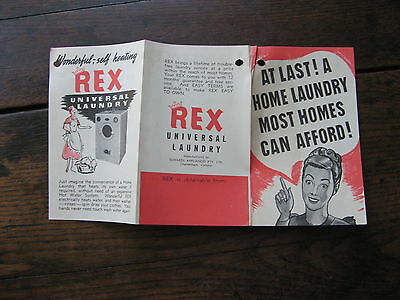 Rex Washing Machine Pamphlet