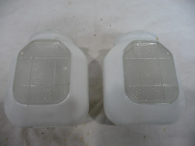 Two Antique Art Deco Wall Sconce Light Globes - C. 1915 Architectural Salvage