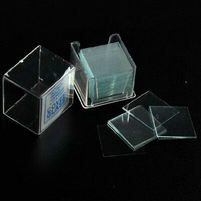 100pcs Biological Microscope Cover Glass Slides Animal Slice Coverslips Lab Tool