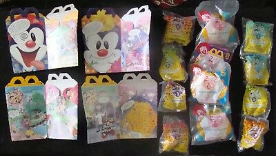 ANIMANIACS  1993 McDonalds Happy Meal complete set PINKY & THE BRAIN unopened