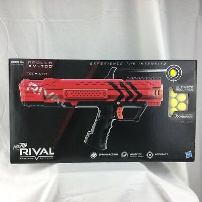 Nerf Rival Apollo XV-700 Blaster Team RED  Spring-action 7x rounds Hasbro toy