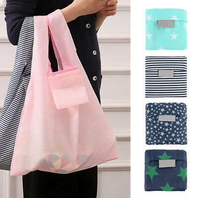 5Pcs Foldable Shopping Bags Reusable Eco Grocery Carry Bag Storage Tote Handbags