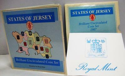 1987 States of New Jersey 7 Coin Brilliant Uncirculated Coin Set-Orig Gov Holder