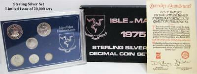 1975 Isle of Man Brilliant Unc. 6 Coin Set-.925  Silver-Limited issue of 20,000