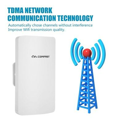 COMFAST 300Mbps Outdoor 2.4GHz Wireless Access Point WiFi Repeater AP CPE POE CF