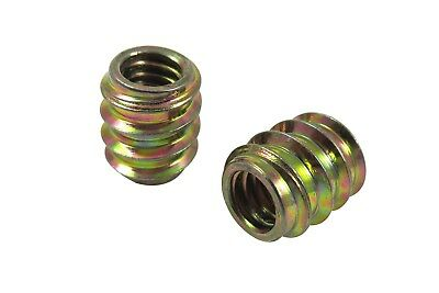 Taytools 25 Pack 10-24 Threaded Inserts, Allow Steel, Zinc Plated 468617