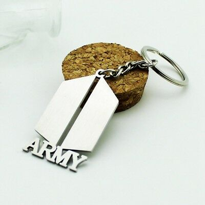 Kpop BTS Bangtan Boys ARMY Metal Pendant Keychain Keyring Fashion Accessories