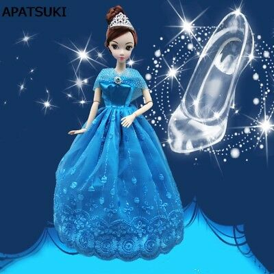 Wedding Dress Fairy Tale Gown Cinderella Dancing Doll Clothes For 11.5inch Doll