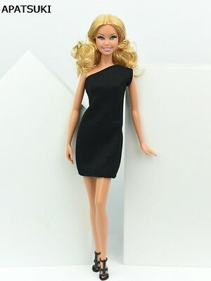 Little Black Dress For 11.5inch Doll One Piece Evening Dresses Clothes 1/6 toy