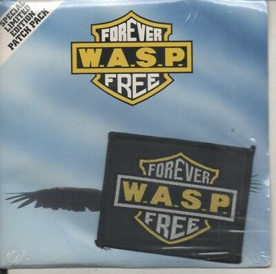 """WASP   Rare Sealed 1989 UK Only 7"""" OOP Mint P/C Single  + Patch """"Forever Free"""""""