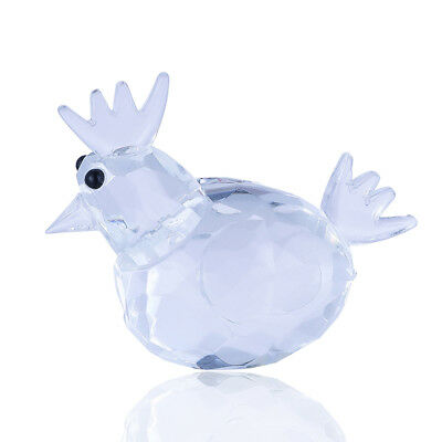 Clear Crystal Cock Paperweight Cut Glass Wedding Favor Collectibles Lady Gifts
