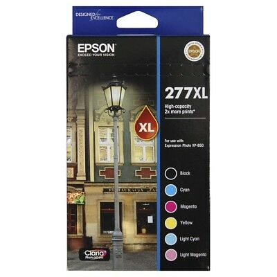 GENUINE Epson 277XL 6 Ink Pack - High Capacity - B/C/M/Y/Light C/Light M