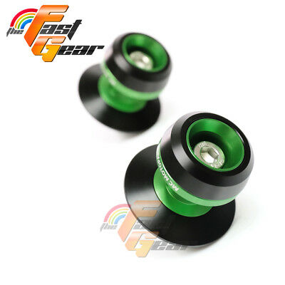 Twall Protector Green Swingarm Spools Sliders Fit Kawasaki ZX-6R 636 2013-2018