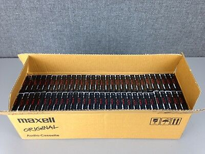 Box of 60: MAXELL UR90 blank audio cassette tapes, 90 minutes - sealed & genuine