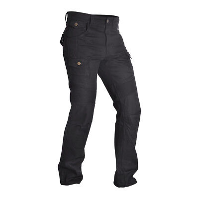 Oxford Aramid SP-J4 Motorcycle Cargo Pants CE Armour Motorbike Trousers Black
