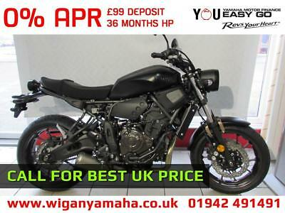 YAMAHA XSR700 ABS IN TECH BLACK FULL POWER VERSION 687cc CP2 RETRO MT 07