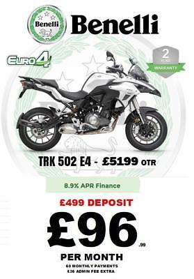 New Benelli Trk 502 E4 - Ride Away From 96 Per-Mth