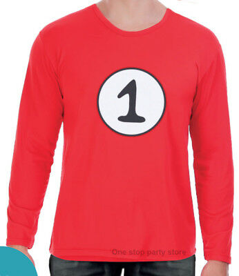 c757d3d0 Dr Seuss Thing 1 and Thing 2 Costume Top Red Book Week Dress up Treasure
