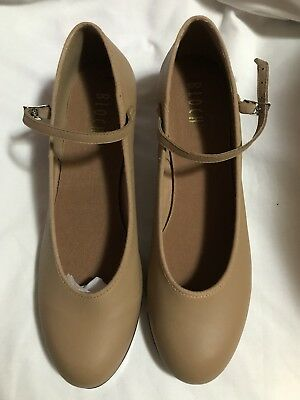 Ladies size 10.5 Bloch leather  Show-Tapper Tan Womens Tap Shoes NEW