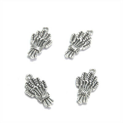 15pcs/lot Wheat Charms Silver tone grain food charm pendant 24x12mm