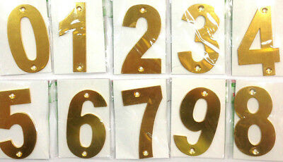 House number 0 to 9 Aluminum Alloy metal house fence letter box numbers w screws