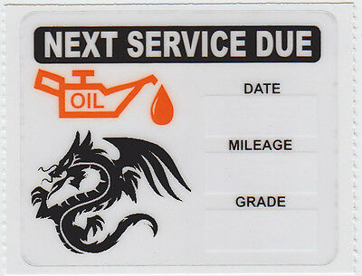24 Tribal Dragon Logo Static Cling Oil Change Reminder Stickers Decals Free S/H