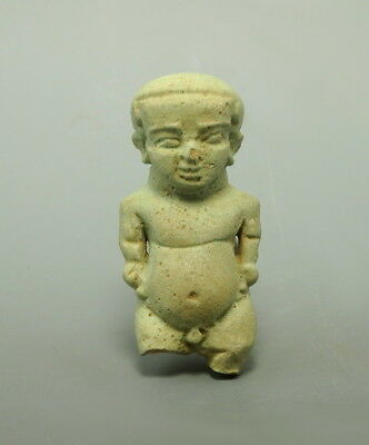 Large Egyptian Faience Amulet Of Ptah (L903)