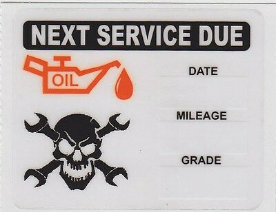 100 Skull Wrenches Logo Static Cling Oil Change Reminder Stickers Decals Free Sh