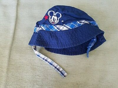 Disney Store Exclusive Mickey Navy Beach/Pool Hat Size 6-12 Months Pre Owned