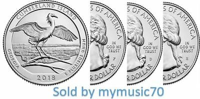 2018 P,D,S Cumberland Island National Seashore Quarter (GA) ** NOW ON HAND **