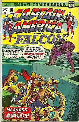 Captain America And The Falcon #187 July 1975 (Fn+) Cents Issue