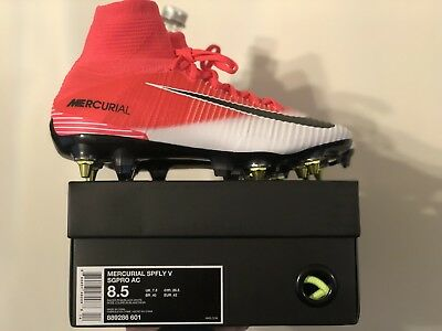 2aba516ccaa4 Nike Mercurial Superfly V Sg Pro Ac Anti Clog Flyknit Uk 7.5 Eur 42 Us 8.5
