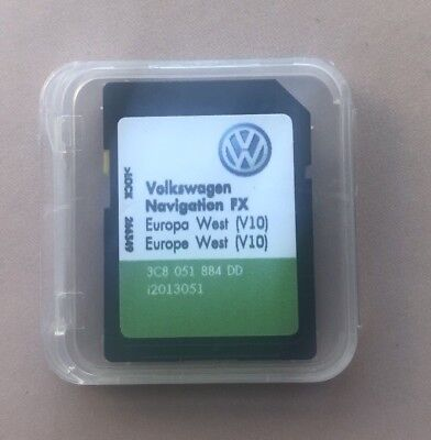 VW SEAT SKODA RNS 310 AMUNDSEN LATEST V10 2018 Navigation FX SD card West Europe