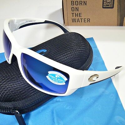 96decde411 Costa Del Mar Fantail Polarized Sunglasses - White   Blue Mirror 400G Glass  Lens