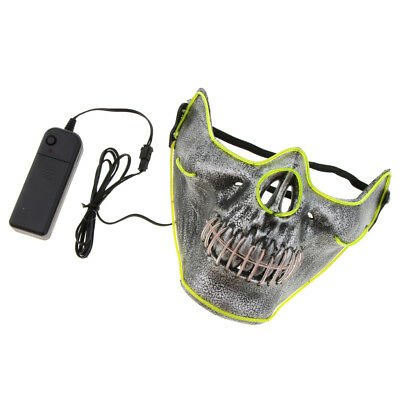 HALLOWEEN LED LIGHT up Mask Glow Wire \'Skeleton Head\' Masquerade ...