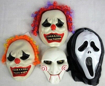 Scream Saw Horror Clown Maske Halloween Kostüm Party Verkleidung Karneval NEU