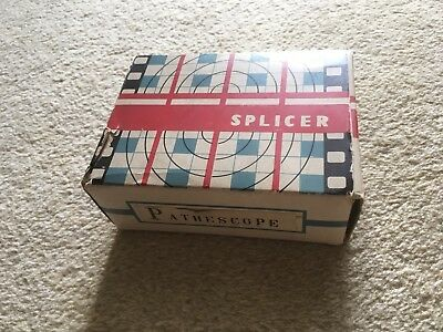 Vintage Pathescope 16 mm / 8mm / Super 8 cine film splicer In Original Box