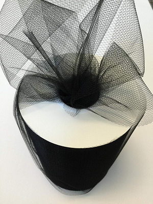 Tulle Fabric Spool/Roll 6x100 Y For Tutu Wedding Party Decoration 300FT Black